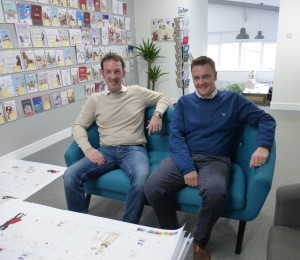 The publisher's mds, brothers Simon (right) and Ian Wagstaff.
