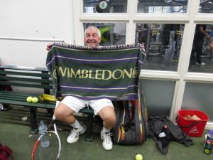 OK, so it wasn't Wimbledon, but Bill didn't throw in the towel!