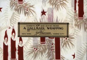 One of Hallmark's original tissue paper designs from a century ago.