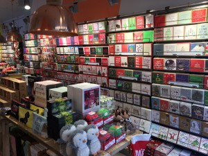 The store opening's timing means that Christmas cards are very much part of the offer.