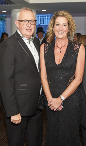 Cardgains' marketing director Penny Shaw and joint md Chris Dyson at The Henries 2017.
