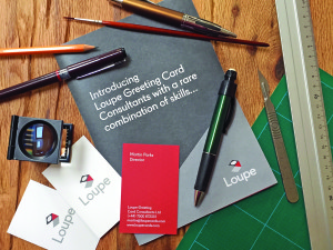 Loupe Greeting Card Consultants gives expert advice to industry businesses.