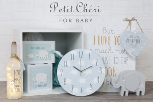 Just one of the new giftware collections launching at the January Show, the Petit Cheri baby range from Widdop and Co.
