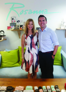 Widdop and Co's director of product development, Stephen Illingworth, with Rosanna Bowles, founder of the company Rosanna, which Widdop distributes in the UK.