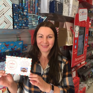 There is the opportunity to send a postcard to Santa at this year's Cudworth Christmas Fair. Wishes of Cudworth's owner Julia Keeling is getting hers in early.