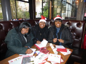 Some of the early birds at the GCA's Festive Friday event at The Depot.