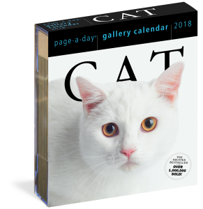 The Cat Gallery by Workman Publishing was a top performer in Day-a-Page calendars at Waterstones.