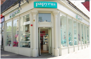Glasgow landmark card retailer, Papyrus did well with its Christmas card sales.