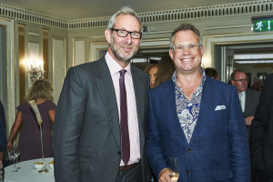 JLP's Dan Cooper (right) with The Art File's md Ged Mace at last July's Retas awards event.