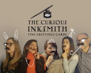 The artists and designers of the new Curious Inksmith brand: Dulcie Price, Cordelia Hutchison, Malgosia Piatkowska, Zoe Damoulakis, Darren Dearden.