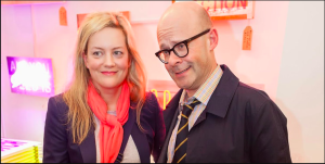Magda Archer with her husband, comedian Harry Hill.