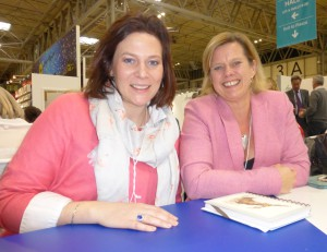 Wrendale Designs' Hannah Dale (left) with AMR's Lucy Hynes.