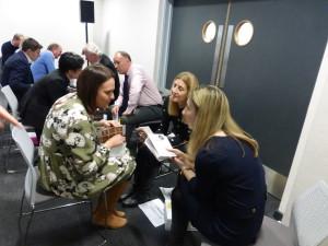 Laura Sherratt (left) with Clintons' 'dragons' at last year's GCA event.