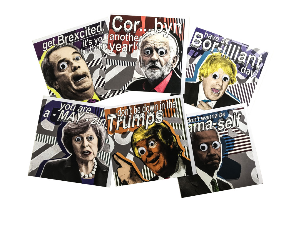 Last year's winner Joe Cox hit the spot with his arty take on politics. The range was rushed through production to be on sale for the run up to the General Election.