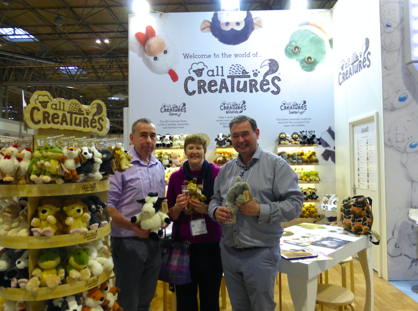 CBG has broadened its own portfolio with the launch of its All Creatures plush collection, which Orkney retailers (left-right) Robert and Caroline Petrie of Kairds ordered from agent Paul McGoogan at the Spring Fair.