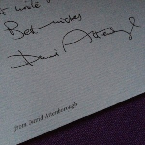 Sai was delighted to receive a personal letter from David Attenborough.