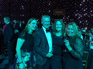 Above: A UKG celebration at the recent Asda Supplier Awards event (attended by 1,000 people). Left to right Claire Sawyer, James Conn, Jayne Myers and Julie Scott.