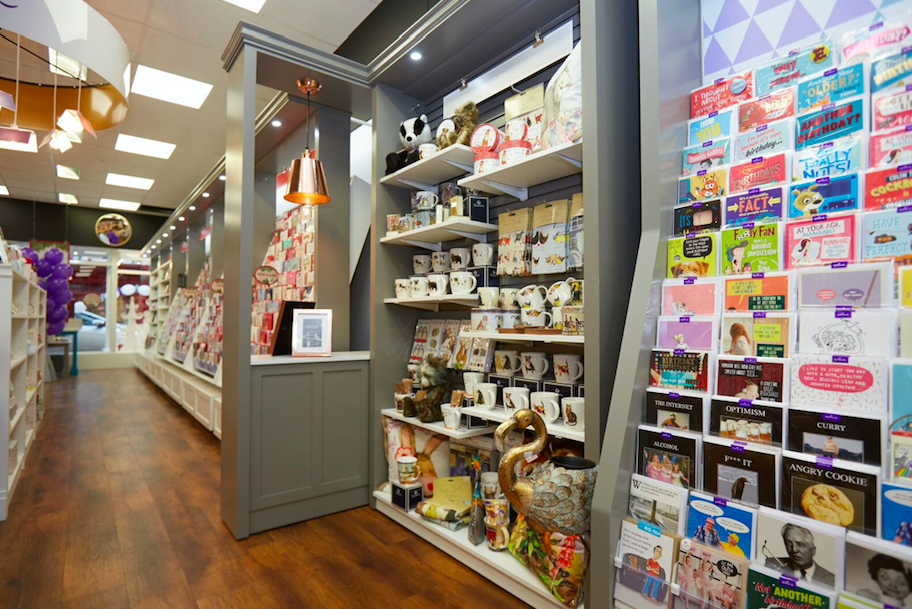 There are options to break up the displays with feature areas, as seen in the Neilds' award winning Reflections store.