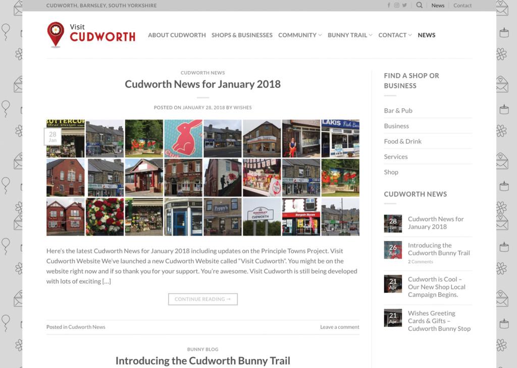The new Visit Cudworth community website.