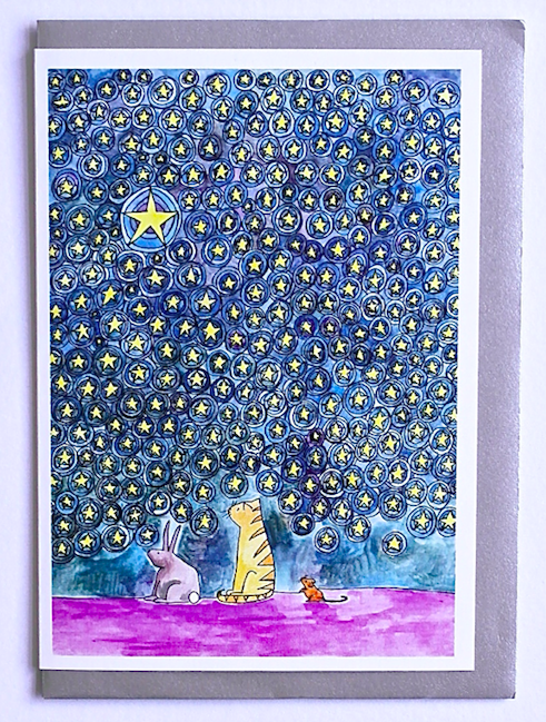 'Three friends under the stars' from Sarah Lovell Art.