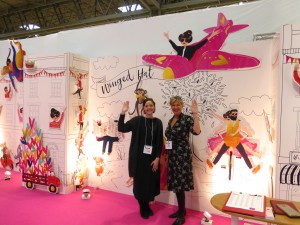 Zana Duthie (right), founder of Winged Hat on her stand at the recent Spring Fair.