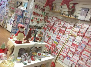 Cello bags keep cards and envelopes together, especially at Christmas at The Wishing Tree in Codsall.
