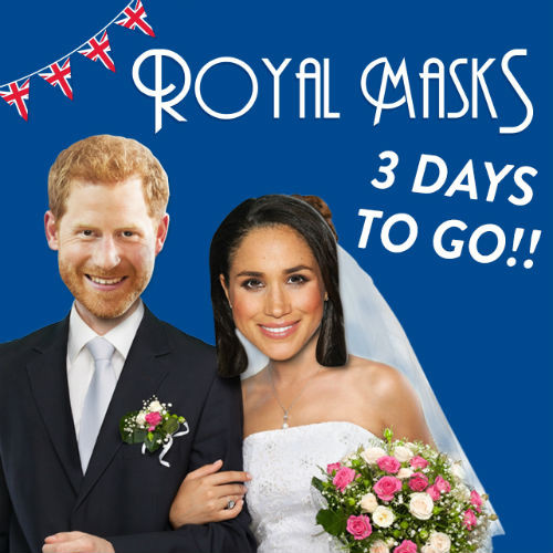 Mask-arade's Harry and Meghan masks have been selling well.