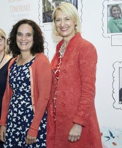 The GCA's ceo Sharon Little (right) with Briffa's founder, Margaret Briffa.