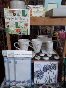 Julie from My Favourite Things arranges her displays so complementary cards are displayed with her products.