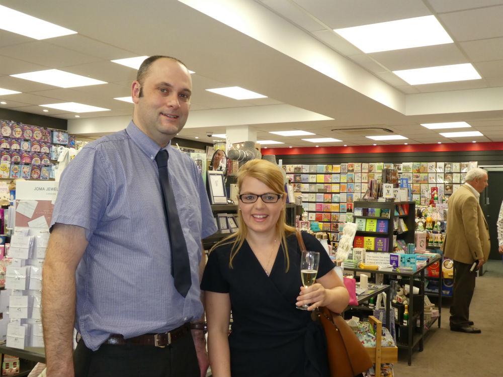 Joe Davies' David Cree and colleague Rebecca Morrisroe.