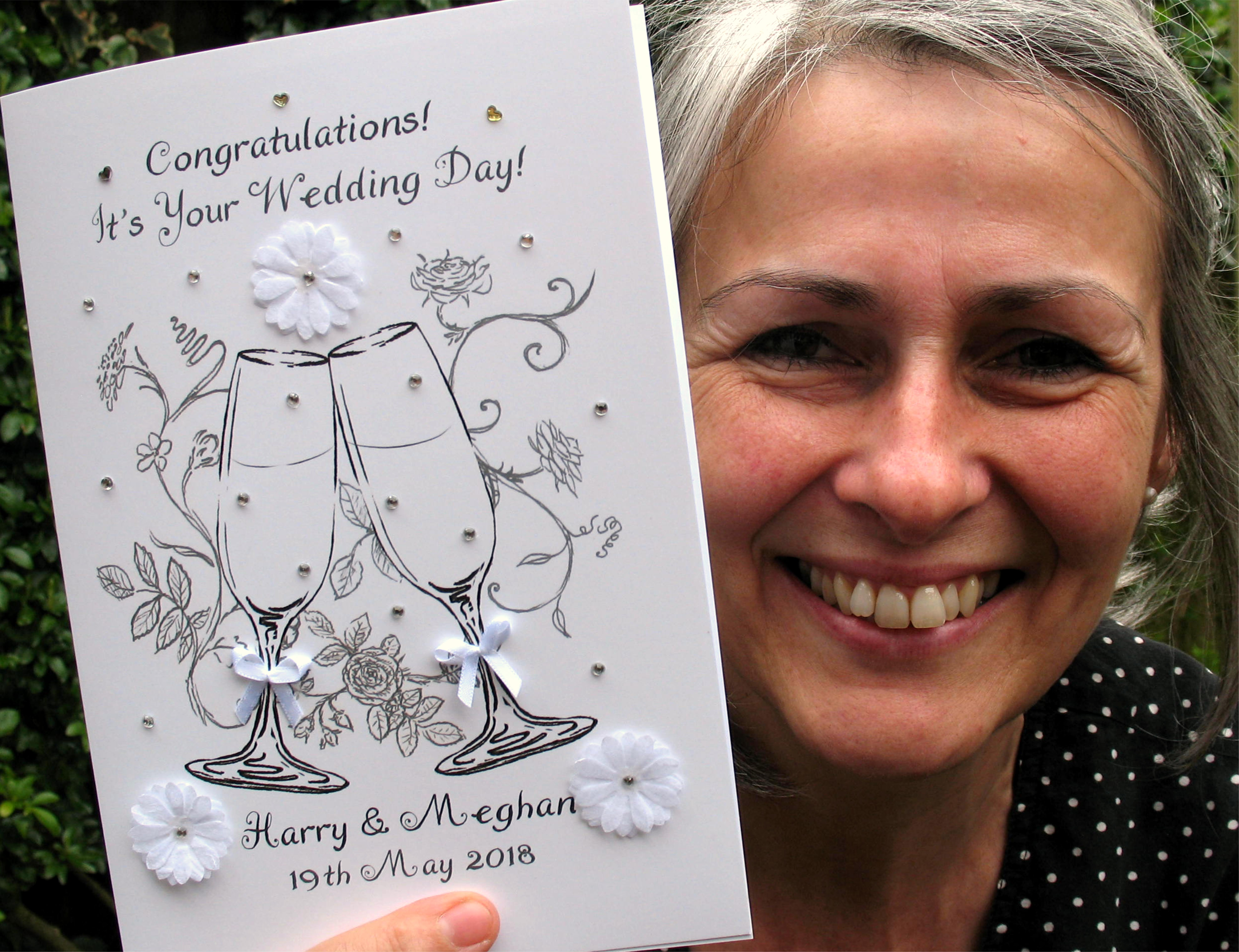 A bespoke card from Catherine Pain.