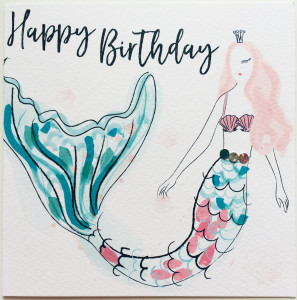 A mermaid on a Paintbox design from Katie Phythian.