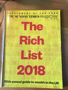 The industry is at least represented in with all the billionaire head fund managers in the Rich List.