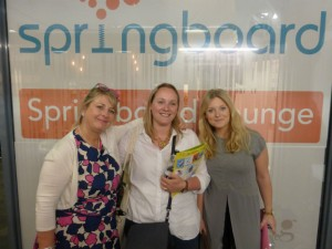 Lisa Rutherford (centre) and Amie Scull (right) of John Lewis with PG's Jakki Brown at PG Live