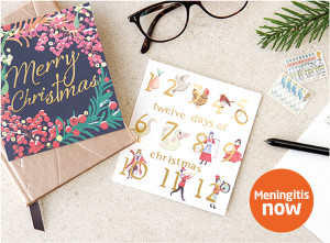 Over the years sales of Christmas cards have raised over £100,000 for Meningitis Now.