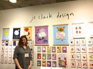Jo Clark on her stand at January's Top Drawer exhibition.