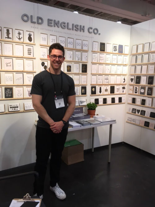 Old English Co's Ben Treanor, a first time exhibitor at NSS.