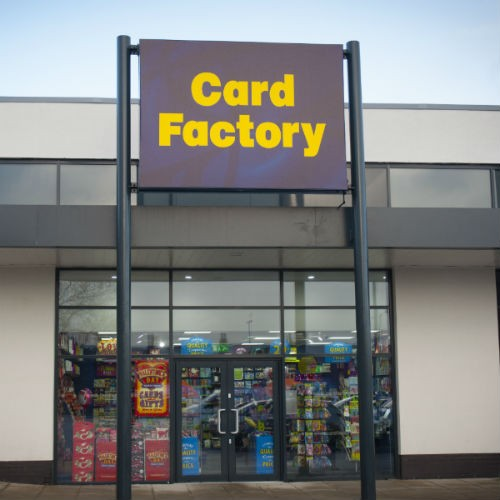 Card Factory on a retail park 500