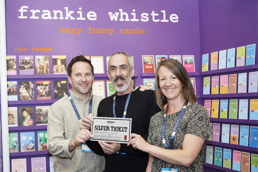Early Bird's Heidi and Dom (left) Early were delighted to spend their Silver Ticket with Frankie Whistle!