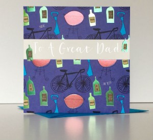 A Father's Day card from the Fresco range from Wendy Jones-Blackett