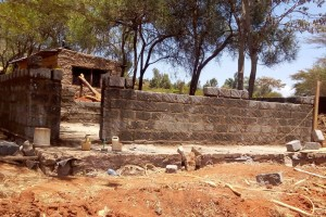 The classroom at Kiatuni Primary in Kenya is starting to take shape.