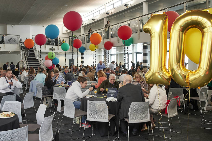 Lagom celebrated its 10th anniversary by sponsoring the lunch room.