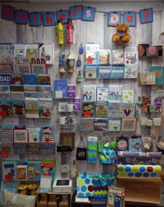 Father's Day display in Mantons Cards