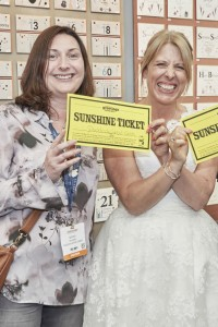 Paddock Wood's Nicky Goodman (left) spent her tickets with Lorraine Bradley of Rush Designs