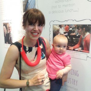 Rose and Summer were excited to see mummy in a photo on the GCA display!