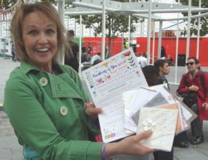 Thinking of You Week promotion last year included giving away cards at Kings Cross Station in London