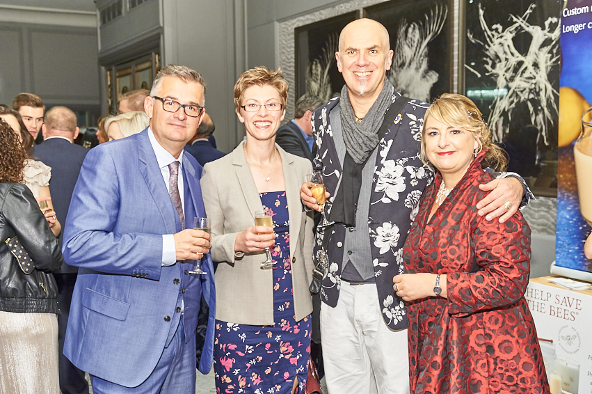(right-left) PG's Jakki Brown, David Hicks, Lisa Shoesmith (both of Really Good and Soul) and Max Publishing's Ian Hyder.
