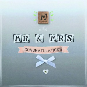 A gorgeous wedding design from Bexy Boo's The Ink Alphabets range.
