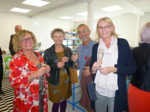 Maria and husband David (right) with Jane and Angela from Zest at an event to celebrate Blue Eyed Sun's Queen's Award last year.