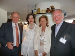Andrew Brownsword, Amanda Ferguson, Christina Brownsword and Ian Bant at a GCA event.